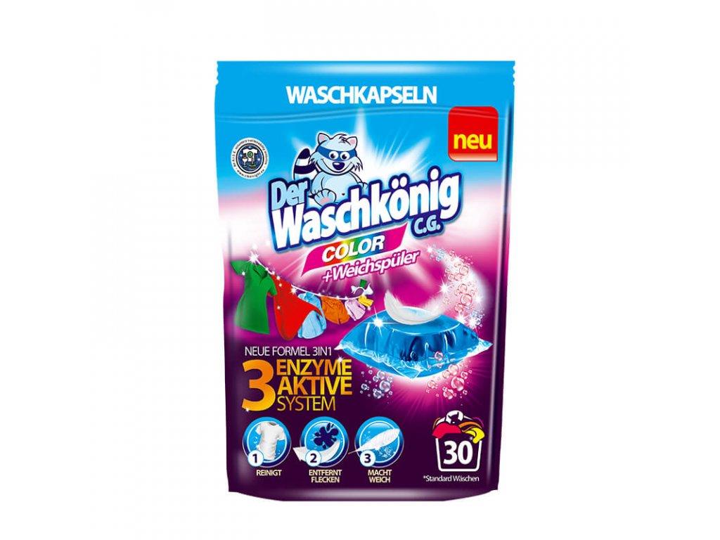 Waschkönig Color kapsle na praní 30 ks