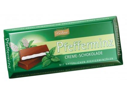 Böhme Čokoláda s přírodní peprmintovou náplní 100g