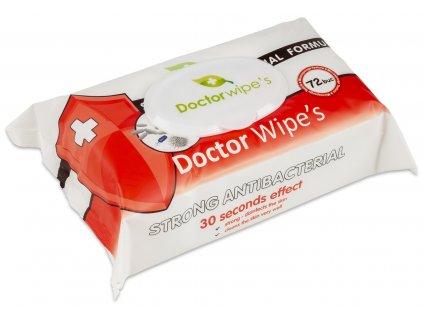 Doctor Wipes Antibakterialní ubrousky s obsahem chlorexidinu 72 ks