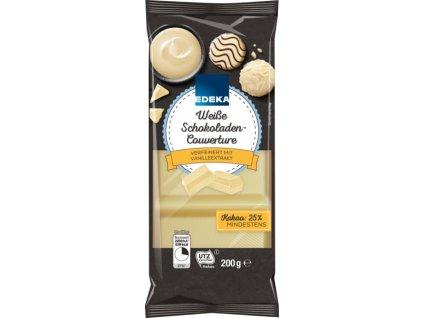Edeka Bílá čokoláda na vaření s vanilkou 200g